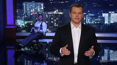 Her kupper Matt Damon «Jimmy Kimmel Live»