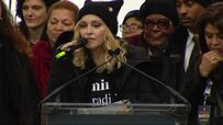 Madonna holdt appell under Trump-demonstrasjon